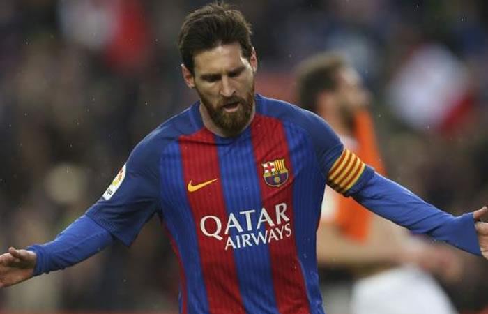 Leo Messi, en un partido con el Barcelona. Foto: EFE