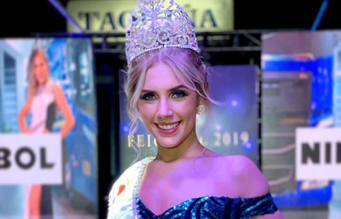 Nathalia Barcelos es la nueva Miss Feicobol 2019
