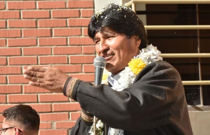 Morales: llegué a la presidencia gracias a la verdad y honestidad