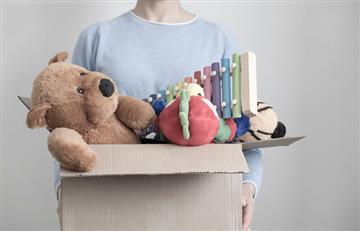 Niños bolivianos donaron juguetes a los afectados por el deslizamiento en La Paz