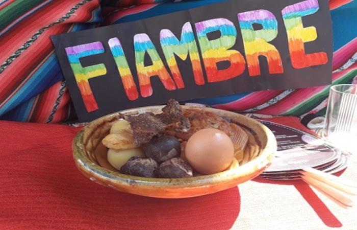 El plato bandera fue el 'Fiambre'. Foto: ABI