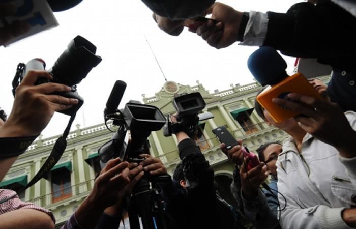 'Día del Periodista Boliviano'. Foto: ABI.