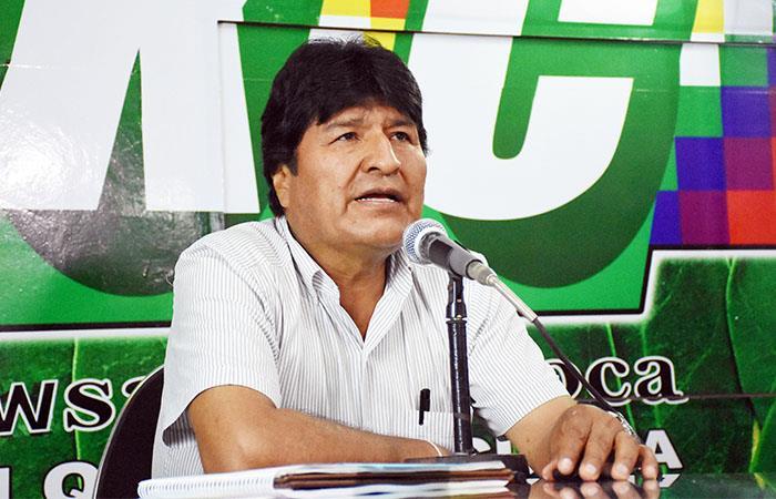Evo Morales agradeció el respaldo de sus coterraneos en Chimoré. Foto: ABI