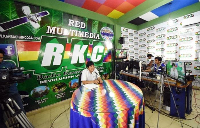 Evo: el voto para Morales es para el mismo pueblo