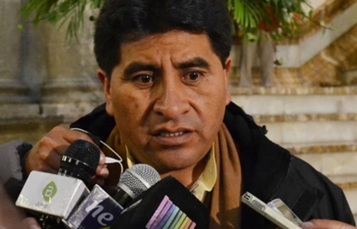 El ministro de Desarrollo Rural y Tierras, César Cocarico. Foto: ABI.