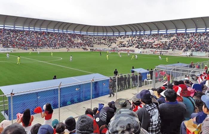 Villa Ingenio el estadio a mayor altitud de Bolivia. Foto: EFE.