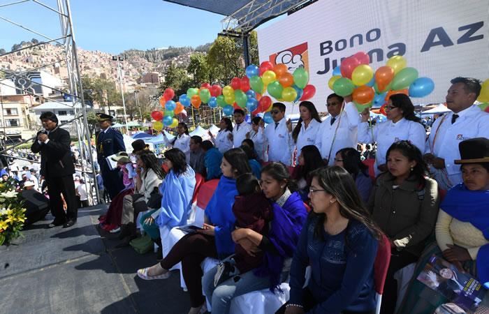 """""""Sin la participación de las hermanas no habría sido posible la liberación de nuestro pueblo."""" Evo Morales. Foto: ABI"""