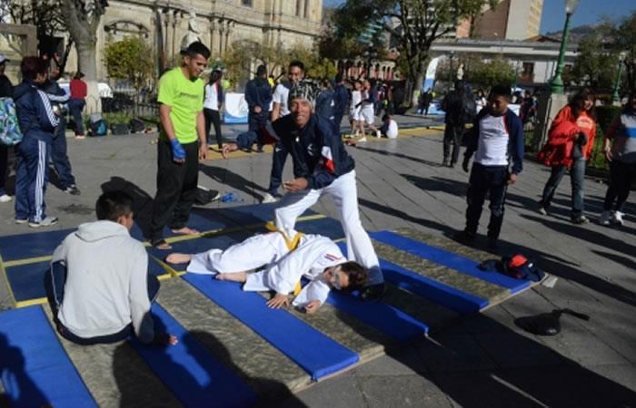 Las calles y las plazas de La Paz por el 'Día del Desafío'. Foto: ABI.
