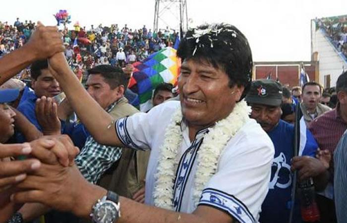 El presidente Evo Morales iniciará su campaña política. Foto: ABI