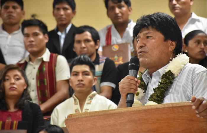 Morales, durante un acto público en Cochabamba. Foto: ABI