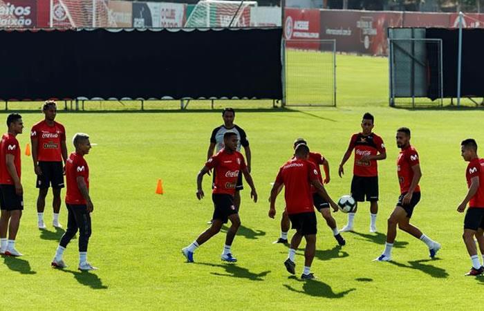 Entrenamiento de la selección peruana. Foto: EFE.