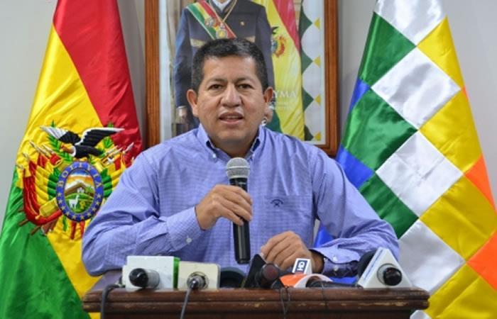 Ministro de Hidrocarburos, Luis Alberto Sánchez. Foto: ABI.