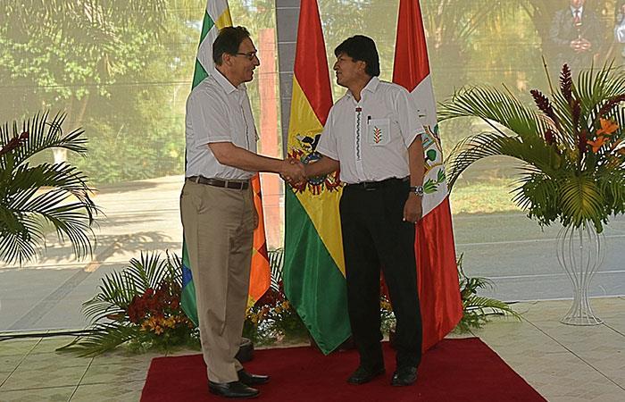 Evo Morales y Martín Vizcarra, mandatarios de ambas naciones, liderarán el encuentro. Foto: ABI
