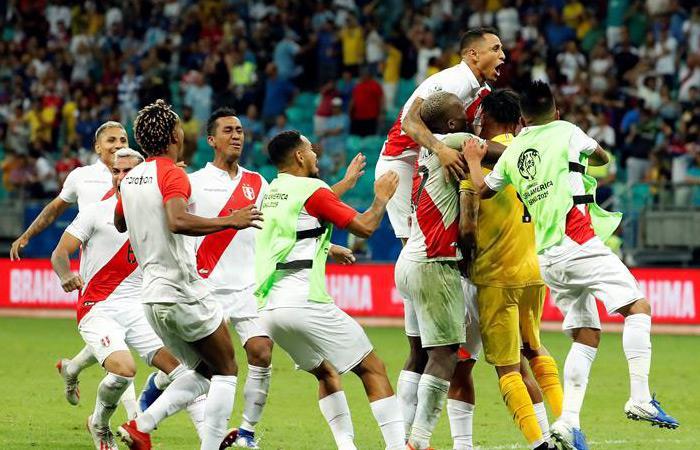 Perú celebra su paso a semifinales de Copa América. Foto: EFE