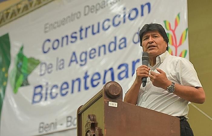 Presidente Morales espera poder incrementar ingreso per cápita en Beni