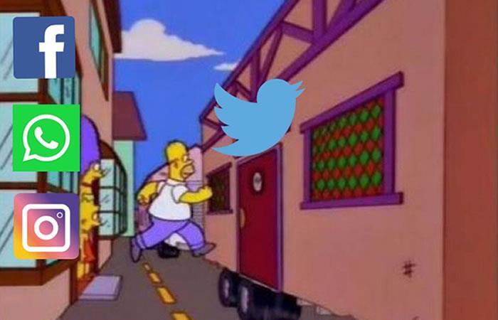 Redes sociales están caídas. Foto: Twitter