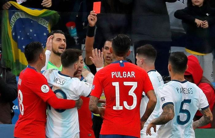 Argentina obtuvo el tercer puesto de la Copa América entre un partido polémico. Foto: EFE.