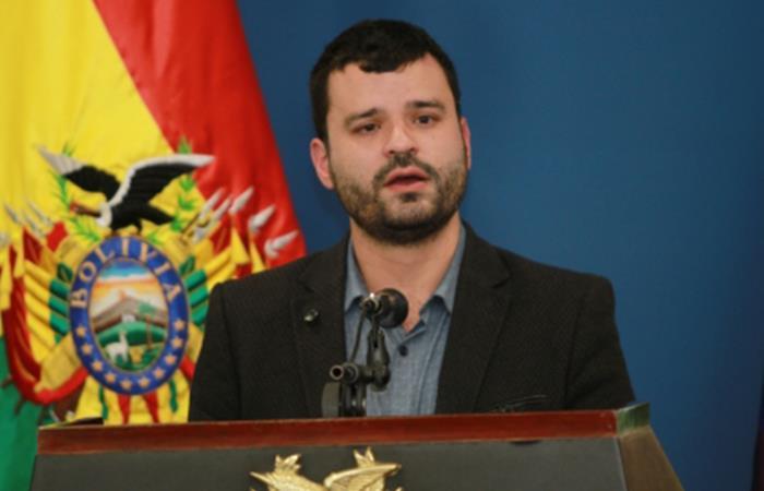 Ministro de Comunicación, Manuel Canelas. Foto: ABI