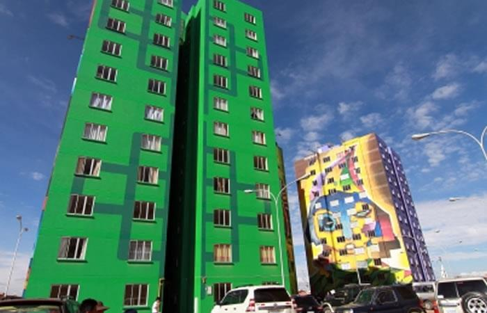 Departamentos entregados en la ciudad de El Alto. Foto: ABI