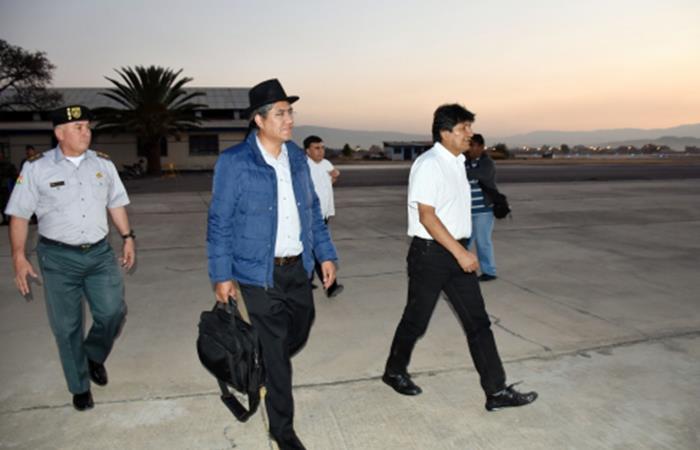 Morales inicia reunión bilateral con su colega de Surinam, Dési Bouterse