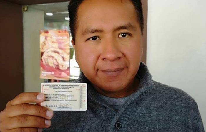 Youtuber boliviano logró registrar su ocupación en su documento de identidad