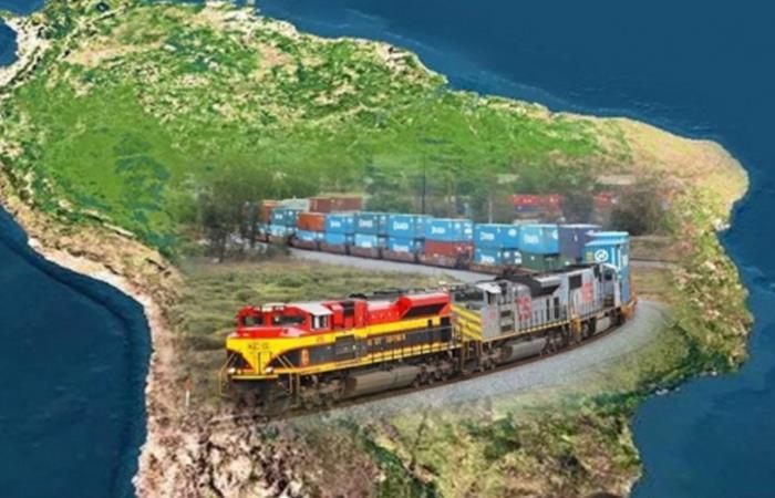 Tren bioceánico uniría océanos Atlántico y Pacífico a través de Perú, Bolivia y Brasil. Foto: ABI