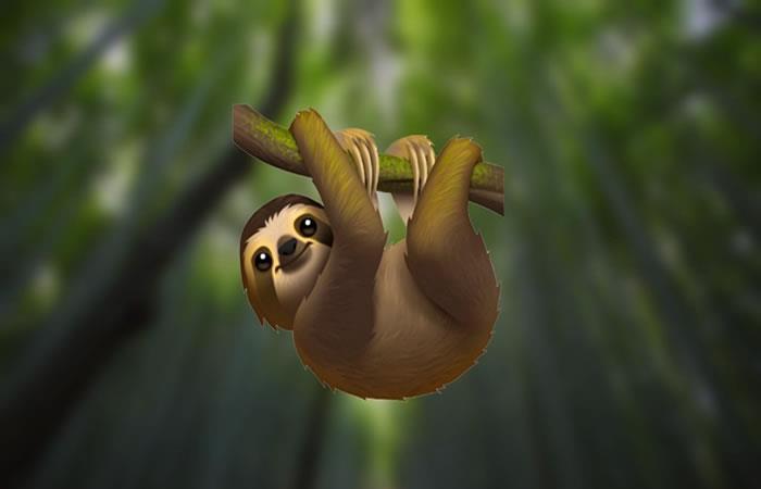El perezoso es uno de los animales que se integran a los nuevos emojis. Foto: Captura Twitter.
