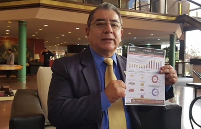 Gerente general del Instituto Boliviano de Comercio Exterior (IBCE), Gary Rodríguez. Foto: ABI.