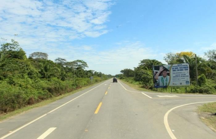 Morales inaugura carretera en Beni. Foto: ABI.