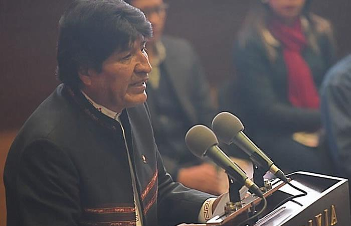 Presidente de Bolivia, Evo Morales. Foto: Twitter @evoespueblo