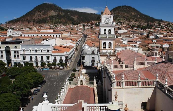 La ciudad de Chuquisaca fue uno de los escenarios más emblemáticos en el movimiento libertario. Foto: Captura twitter.