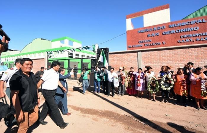Este proyecto contó con la inversión de más de 41,6 millones de bolivianos. Foto: ABI.