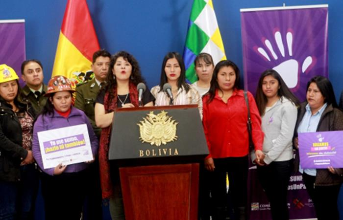 Lucha contra la violencia hacia la mujer. Foto: ABI