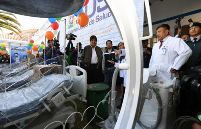 Presidente entrega equipos e insumos médicos a siete hospitales de Chuquisaca