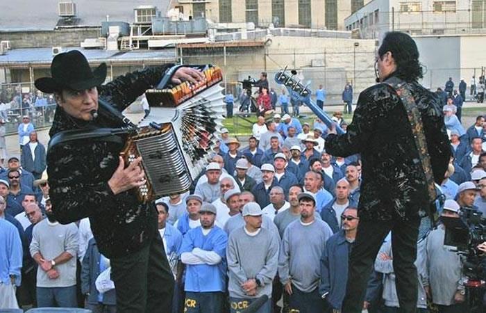 Los Tigres del Norte en un concierto en la Folsom Prison Blues. Foto: EFE.