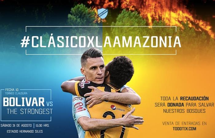 Bolívar y The Strongest jugarán un partido por la Amazonía. Foto: Twitter @marceloclaure