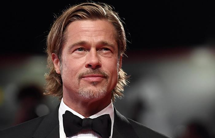 Brad Pitt en el Festival de Cine de Venecia. Foto: EFE