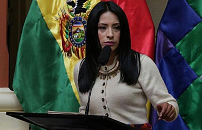 La ministra de Culturas y Turismo, Wilma Alanoca. Foto: ABI