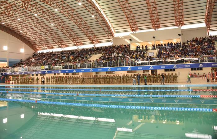 Esta es la nueva piscina olímpica inaugurada por Evo Morales este miércoles. Foto: ABI