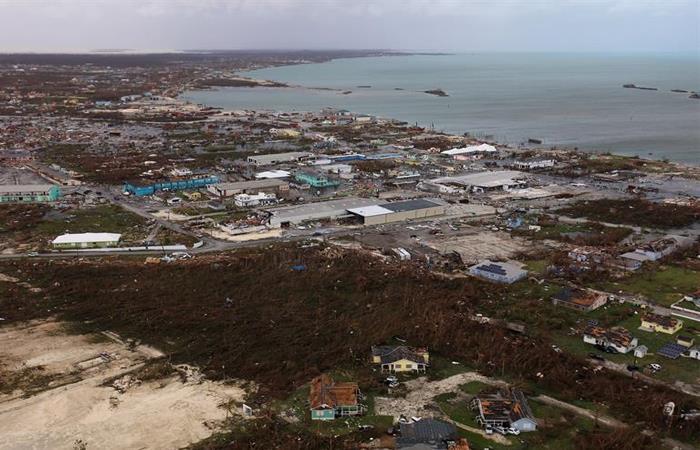 Destrucción en las Bahamas, tras paso de Dorian por las islas del Caribe. Foto: EFE