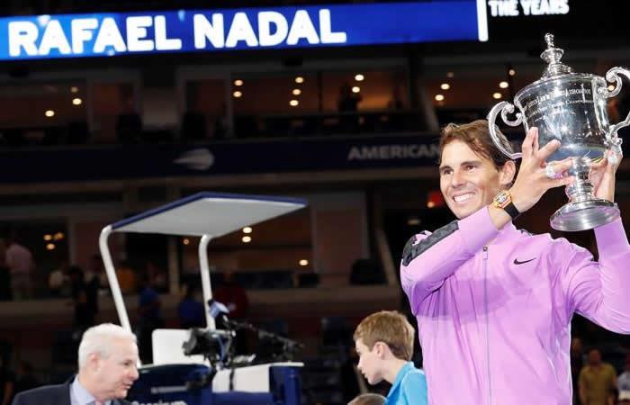 Rafael Nadal campeón en US Open. Foto: EFE