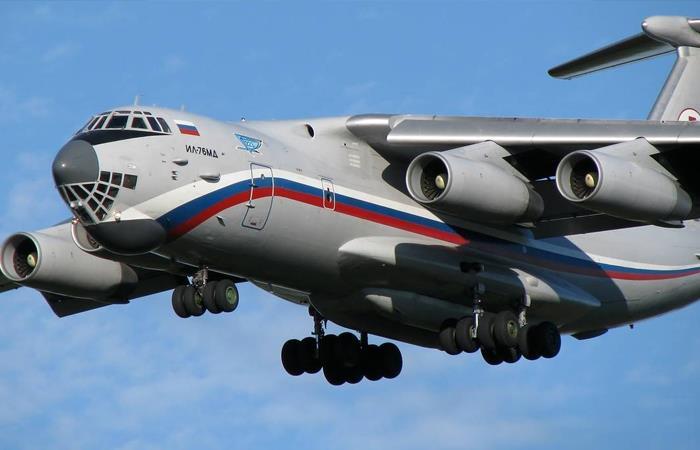 Ilyushin, el avión enviado por Rusia a Bolivia. Foto: ABI