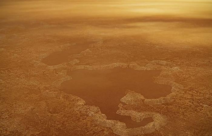 La laguna de Titán es la segunda más grande los planetas en el sistema solar. Foto: EFE.
