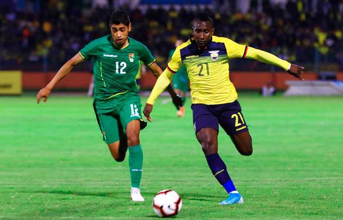 Bolivia cayó 3-0 ante Ecuador. Foto: EFE
