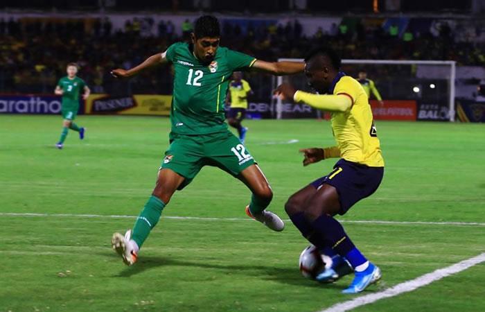 En el amistoso frente a Ecuador, Bolivia perdió 0-3. Foto: EFE