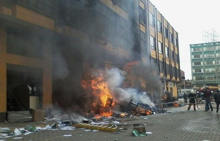 Enfrentamientos en Santa Cruz. Foto: Twitter