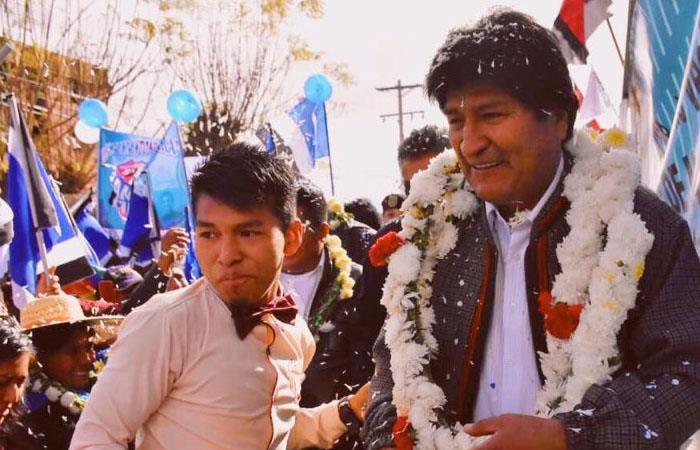 Evo Morales, durante la celebración en Cochabamba. Foto: Twitter
