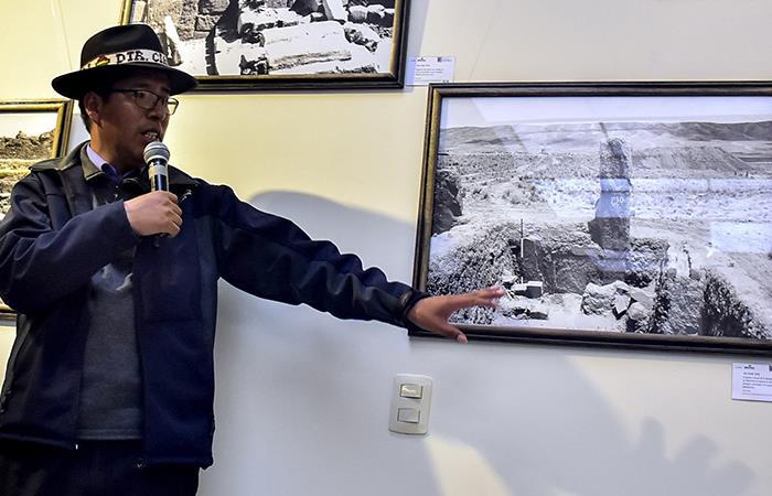 El director del Centro de Investigaciones Arqueológicas de Tihuanaco (CIAT), Julio Condori. Foto: EFE