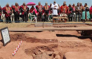 Hallazgo arqueológico es una nueva página en la historia de Tiahuanaco