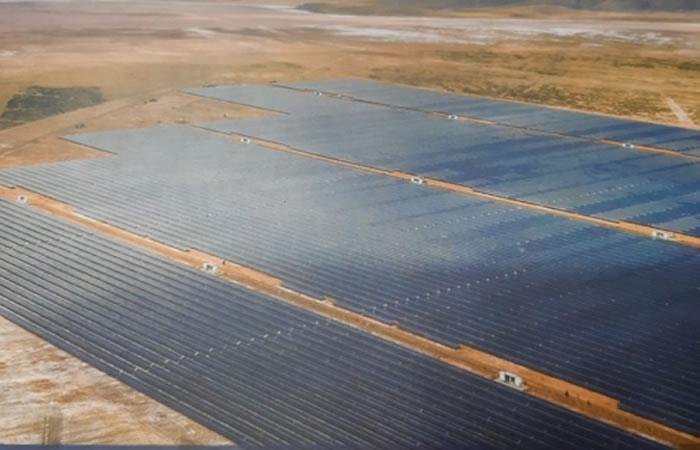 Nueva planta Solar de Oruro. Foto: ABI